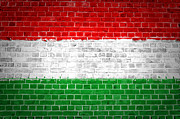 Stonewall Prints - Brick Wall Hungary Print by Antony McAulay
