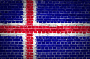 Old Wall Prints - Brick Wall Iceland Print by Antony McAulay
