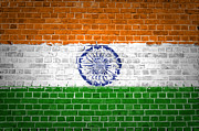Old Wall Posters - Brick Wall India Poster by Antony McAulay