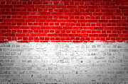 Old Wall Posters - Brick Wall Indonesia Poster by Antony McAulay