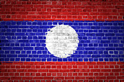 Stonewall Prints - Brick Wall Laos Print by Antony McAulay