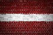 Stonewall Prints - Brick Wall Latvia Print by Antony McAulay
