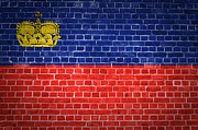 Stonewall Prints - Brick Wall Liechtenstein Print by Antony McAulay