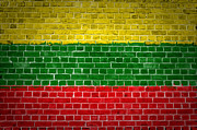 Stonewall Prints - Brick Wall Lithuania Print by Antony McAulay