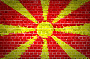 Stonewall Prints - Brick Wall Macedonia Print by Antony McAulay