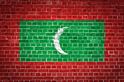 Stonewall Prints - Brick Wall Maldives Print by Antony McAulay