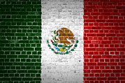 Stonewall Prints - Brick Wall Mexico Print by Antony McAulay