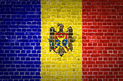 Built Digital Art Posters - Brick Wall Moldova Poster by Antony McAulay