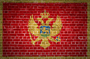 Old Wall Framed Prints - Brick Wall Montenegro Framed Print by Antony McAulay