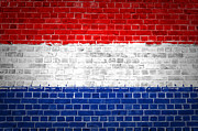Stonewall Prints - Brick Wall Netherlands Print by Antony McAulay