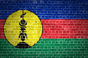 Stonewall Prints - Brick Wall New Caledonia Print by Antony McAulay