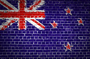 New Zealand Digital Art - Brick Wall New Zealand by Antony McAulay