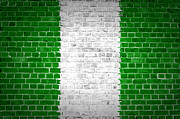 Old Wall Framed Prints - Brick Wall Nigeria Framed Print by Antony McAulay