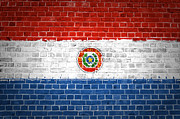 Old Wall Framed Prints - Brick Wall Paraguay Framed Print by Antony McAulay