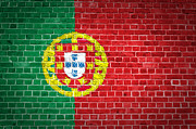 Old Wall Framed Prints - Brick Wall Portugal Framed Print by Antony McAulay