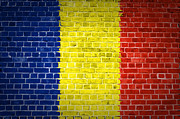 Built Digital Art Posters - Brick Wall Romania Poster by Antony McAulay