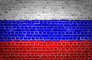 Federation Prints - Brick Wall Russian Federation Print by Antony McAulay
