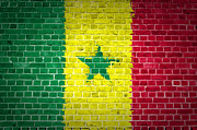 Senegal Posters - Brick Wall Senegal Poster by Antony McAulay
