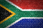South Africa Digital Art Prints - Brick Wall South Africa Print by Antony McAulay