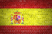 Spain Digital Art Posters - Brick Wall Spain Poster by Antony McAulay