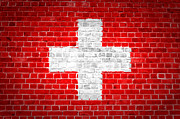 Switzerland Digital Art - Brick Wall Switzerland by Antony McAulay