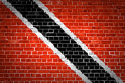 Old Wall Posters - Brick Wall Trinidad and Tobago Poster by Antony McAulay