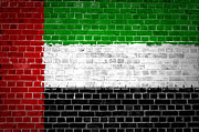 United Arab Emirates Posters - Brick Wall United Arab Emirates Poster by Antony McAulay