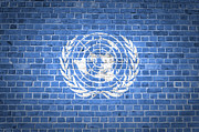 Old Wall Posters - Brick Wall United Nations Poster by Antony McAulay