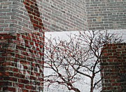 Brick Walls Prints - Bricked In Print by Sarah Loft