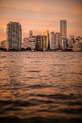 Miami Digital Art Originals - Brickell Sunset by Dan Vidal