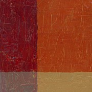 Textural Paintings - Bricks and Reds by Michelle Calkins