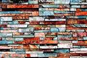 Layered Prints - Bricks Print by Benjamin Yeager