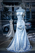 Apparel Framed Prints - Bridal Dress Window Display in Ottawa Ontario Framed Print by Randall Nyhof
