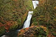 Bridal Veil Falls Framed Prints - Bridal Veil Landscape Framed Print by Adam Jewell