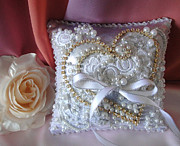 Ring Tapestries - Textiles - Bridal Wedding Ring Pillow. Ameynra fashion by Ameynra Fashion