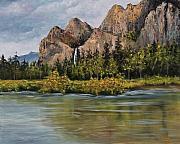 Bridalveil Fall Yosemite Print by Darice Machel McGuire