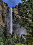 Sierras Photos - Bridalveil Falls by Bill Gallagher