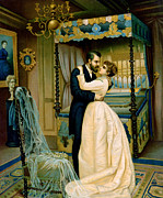 Les Metal Prints - Bride and Bridegroom Metal Print by French School