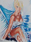 Allure Painting Prints - Bride Angel Print by PainterArtist FIN