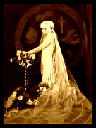 Ziegfeld Girl Prints - Bride at Altar circa 1925 Print by Rosie Mills