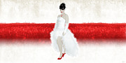 Bride In Red Print by Ervin Hajdu