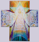 New Testament Painting Originals - Bride of Christ Save the Planet by Anne Cameron Cutri