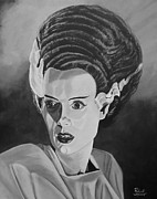 Universal Monsters Framed Prints - Bride of Frankenstein Framed Print by Robert Steen