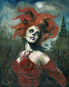 Day Paintings - Bride of the Dead by Luis  Navarro