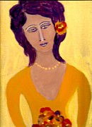 Bridesmaid Paintings - Bridesmaid200 by Linda  Lavid