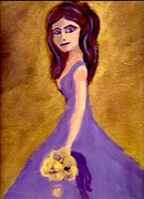 Bridesmaid Paintings - Bridesmaid206 by Linda  Lavid