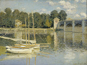 Masterpiece Digital Art Prints - Bridge at Argenteuil Print by Nomad Art And  Design