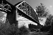 Southern Indiana Posters - Bridge at Falls of the Ohio Poster by Chris Fender