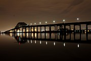 Lights Digital Art Originals - Bridge At Night by Stuart Trejos