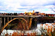Spokane Framed Prints - Bridge at Spokane Falls Framed Print by Ana Lusi